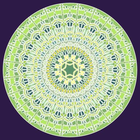 obtaining: Green fine mosaic mandala for energy and power obtaining mandala for meditation training