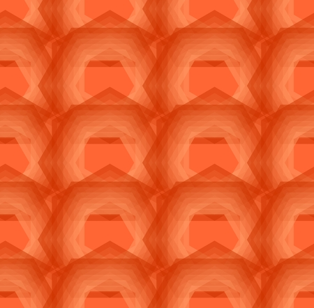 Abstract orange background composed of overlapping polygons, modern seamless decorative vector background