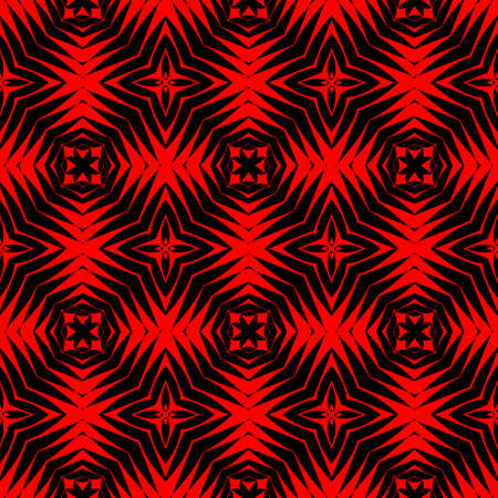 sidebar: High contrasting modern regular seamless patterns in black and vivid red Stock Photo