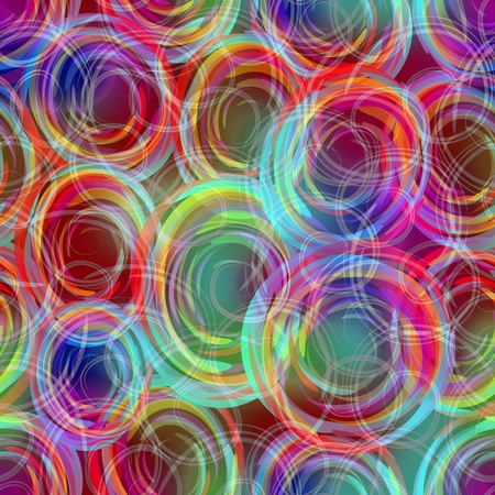 semitransparent: Blurry semitransparent overlapping circle patterns in rainbow colors, modern abstract background in cheerful pastel colors Stock Photo