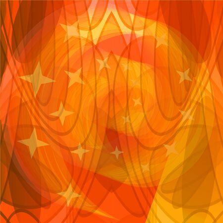 plasma: Orange abstract plasma background with semitransparent elements