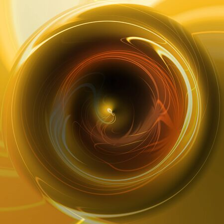 metallic: Circle polished brass metallic structure with reflections Stock Photo