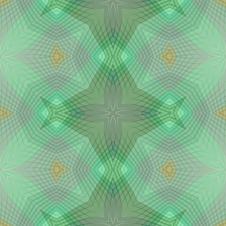 semitransparent: Green abstract semitransparent background with line and curve patterns, vertical symmetric Stock Photo