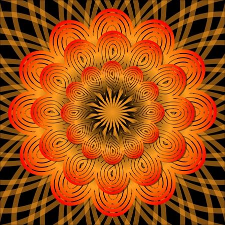 obtaining: Orange mandala for energy obtaining, meditation element