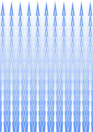 winter colors: White and blue patterns in vertical strips, background in winter colors with gradient