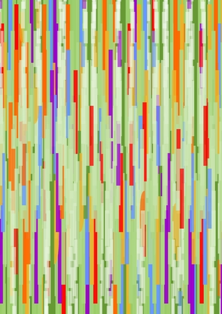 generative: Grunge abstract background composed of uneven multicolored vertical strips