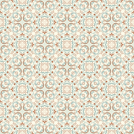 ancient geometric: Fine oriental patterns in natural soft colors. Seamless oriental patterns. Filigree geometric patterns. Morocco ancient patterns. Vector small oriental vintage patterns. Illustration