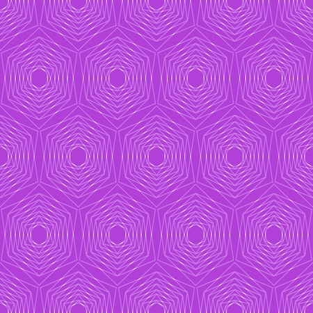 gauze: Modern hexagonal patterns. Hexagonal fine patterns in trendy purple. Seamless vector hexagonal patterns. Silver hexagonal patterns on vivid purple background. Illustration