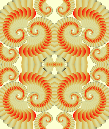contrasting: Abstract vector patterns in opart style. Low contrasting patterns in beige and orange design on light background.