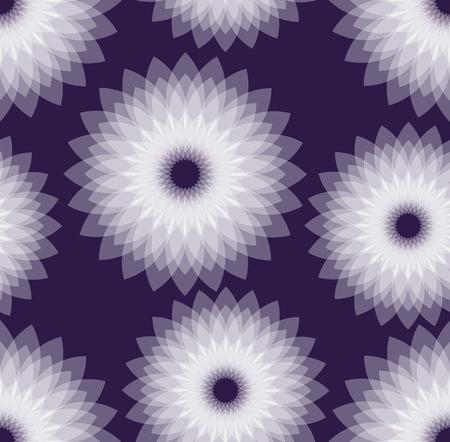 semitransparent: Dark purple background with  white semitransparent multilayer star shapes