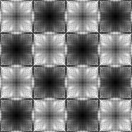inverse: Halftone white and black inverse patterns composed as chessboard, seamless background