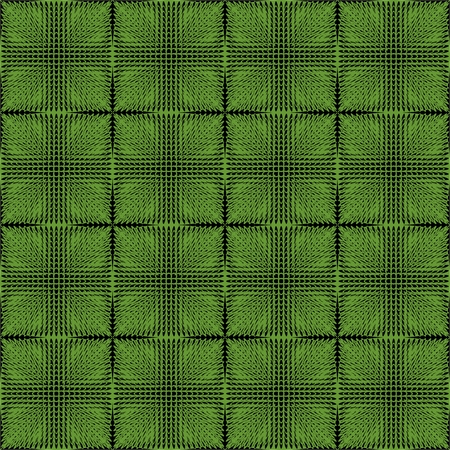inverse: Halftone green and black inverse patterns composed as chessboard, seamless vector background Illustration