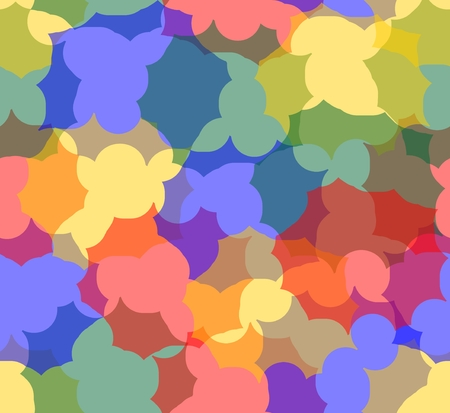 semitransparent: Hipster multicolored seamless background completed from semitransparent uneven shapes