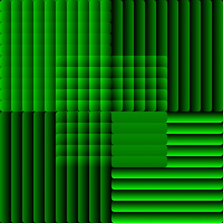 semitransparent: Tile composed of semitransparent stripes in optical art style. Decorative vector bakcground in green. vector eps10