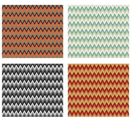 Chevron patterns tile, multicolored design element, decorative seamless background