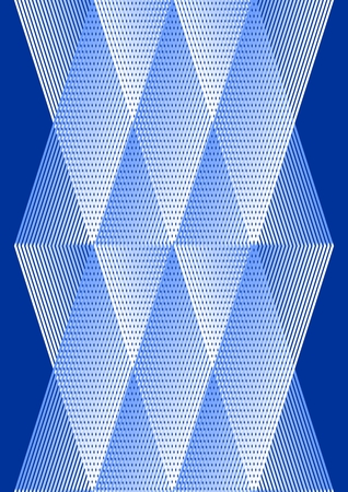 Overlay background in cubist style, white and blue design with grid structure Illustration