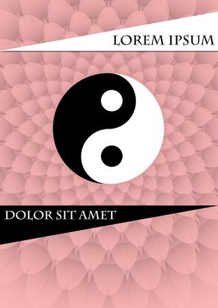 ピンクのテクスチャ背景仁チャンのシンボル。書籍カバー、プラカード、チラシ、ポスター、電源の中国タグでテンプレートを請求、ベクター EPS 10  イラスト・ベクター素材