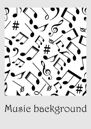 Seamless Music Background With Notes Treble Clef Music Symbols
