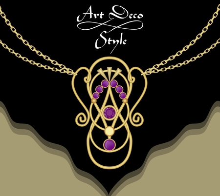 Luxury art necklace vector illustration Illustration
