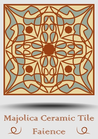Traditional Spanish ceramics product with multicolored geometric ornament vector illustration