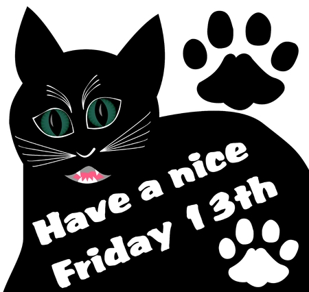 Friday 13th design for greeting card