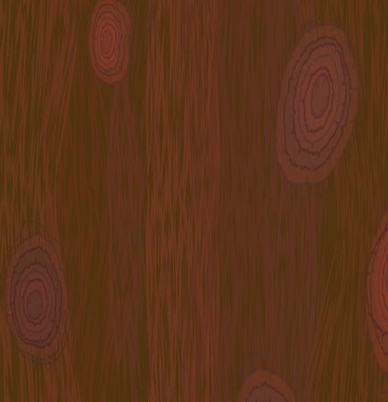 Red wood texture, dark natural wooden panel, Vector EPS 10 Ilustracja