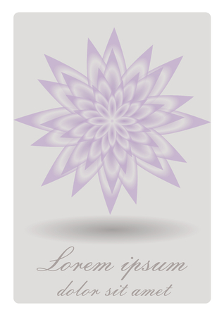 Elegant soft background with waterlily. Low contrasting lotus flower with shadow on light gray background.