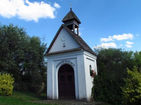 Rural chapel, typical village folk architecture, rural impression 版權商用圖片