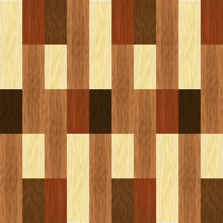 Simple wooden inlays composed of rectangles of differently colored wood. Wooden texture, floor parquet. Vector design Ilustrace