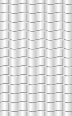 Silver abstract background with bent elements, embossed effect, 3d illusion, low contrasting neutral graphic background Vectores