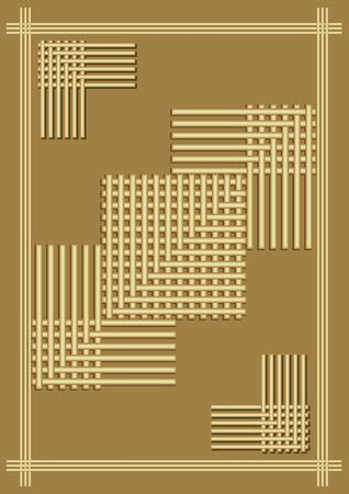 gold background with embossed grid composition, elegant simple luxurious template with 3d effect