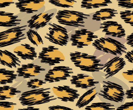 Leopard skin seamless patterns in natural colors