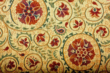A medieval style flowered tapestry photo