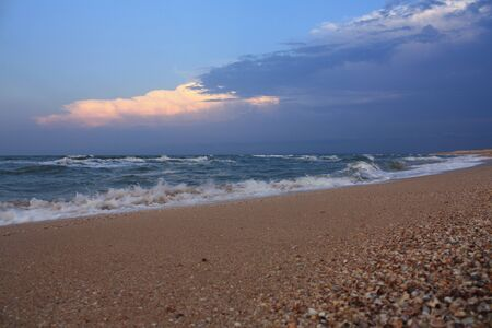 The sea after a thunderstorm