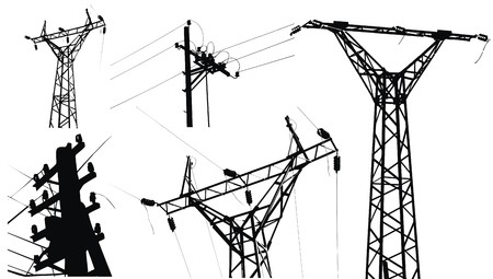 powerline: High voltage electricity pole