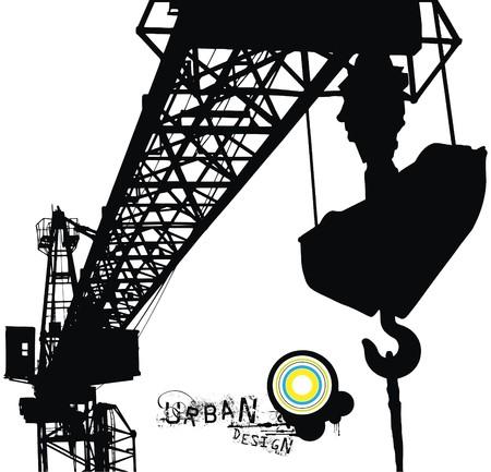 crane: crane vector illustration for your urban design Illustration