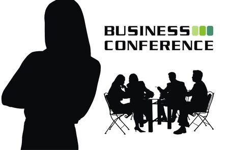 conferencia de negocios: Ilustraci�n de vector de Conferencia de negocios  Vectores
