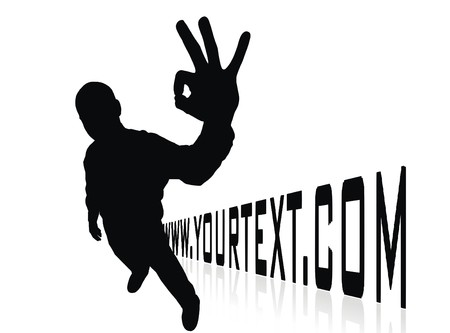domain: domain site illustration with man silhouette