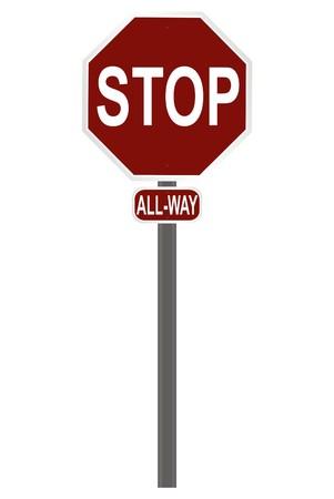 slowdown: stop sign