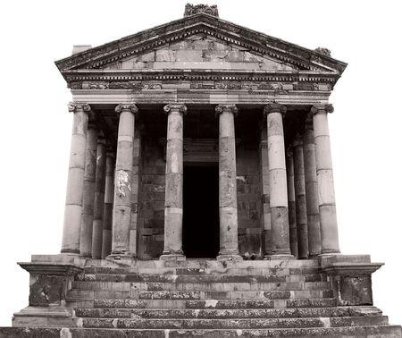 heathen temple isolated on white   Stock Photo - 5974160