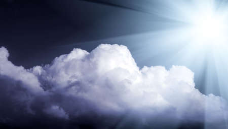 dramatic lighted beautiful clouds Stock Photo - 5986676