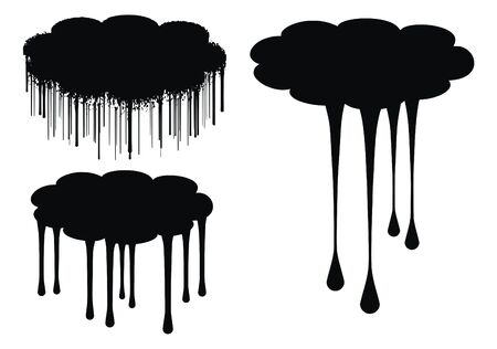 excellent high quality cloud drips vector illustration for your design illustration