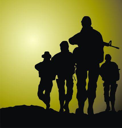 soldiers vector illustration illustration
