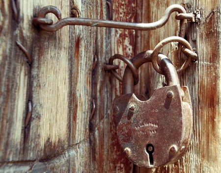 Old grunge door lock Stock Photo - 6278729