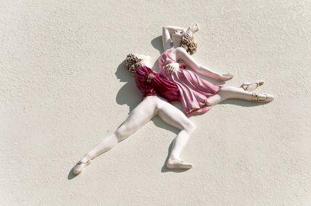 gril: balet dancing background