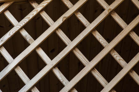 decorative wooden lattice to the external design of the building studio