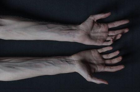 horrible: Gothic horrible Halloween theme: thin hands of death studio