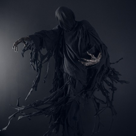 dramatic characters: Death on a black background, Dementor in studio