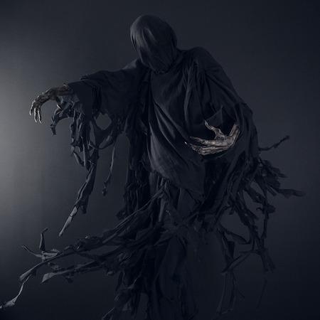Death on a black background, Dementor in studio