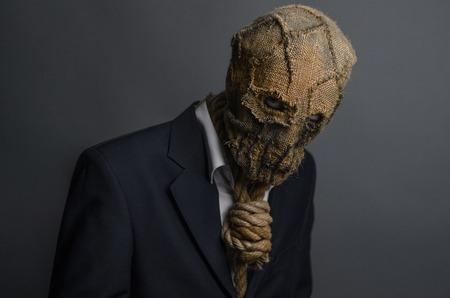 dramatic characters: Halloween Scarecrow, killer Stock Photo